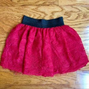 Takara Red with Black girls small tulle skirt.